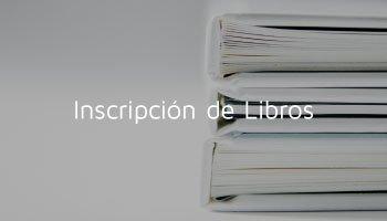Inscripción de Libros